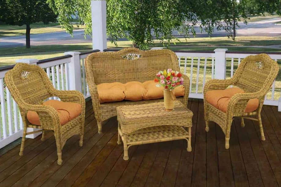 Resi Wicker Material Outdoor Furniture